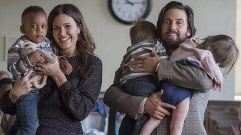 Rebecca & Jack Pearson ainsi que leurs trois enfants, Kate, Randall et Kevin Pearson