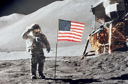 L'arrivée des américains sur la lune le 20 juillet 1969